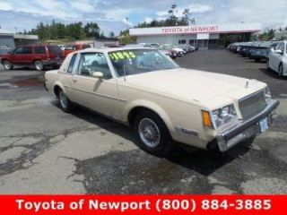 1982 Buick Regal >> Used 1982 Buick Regal Limited Edition In Newport Oregon