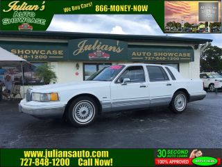 Julians Auto Showcase >> Used 1992 Lincoln Town Car Signature In New Port Richey Florida