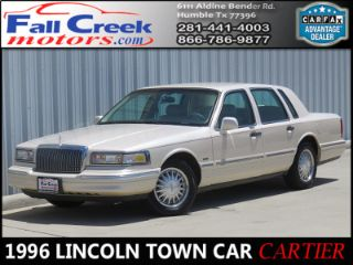 Used 1996 Lincoln Town Car Cartier In Humble Texas