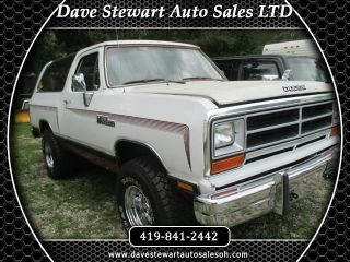 1990 Dodge Ramcharger 150